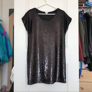 Garage Black Sequin Shift Dress